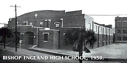 Bishop England H.S., photo taken in 1950